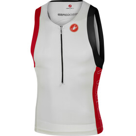 Castelli Free Tri Top Men white/red